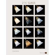 "4.75"" Glass Bell Ceiling Fan Fitter Shade"