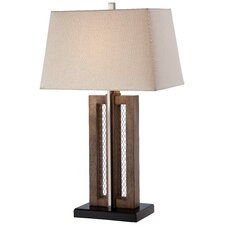"1 Light 28.63"" H Table Lamp with Rectangular Shade"