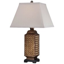 """1 Light 25.75"""" H Table Lamp with Square Shade"""