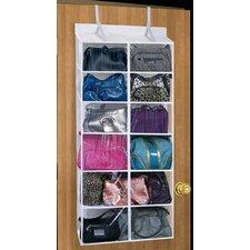12-Compartment Over Door Purse Organizer