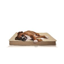 Deluxe Outdoor Memory Foam Dog Bed with Removable Cover
