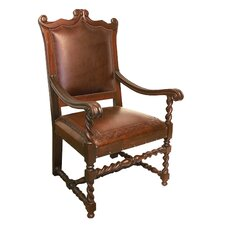 Diego Hardwood Leather Arm Chair (Set of 2)