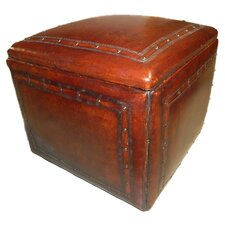 Saddle Leather Ottoman