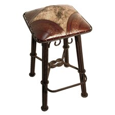 "Western Iron 30"" Bar Stool with Cushion (Set of 2)"