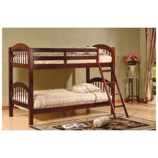 Arched Twin Bunk Bed with Built-In Ladder