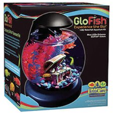 GloFish 1.8 Gallon Waterfall Globe Aquarium Kit