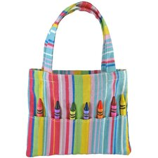 Doodlebugz Crayola Crayon Purse in Pink Stripe