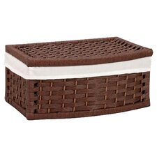 Wicker Curved Basket with Lid