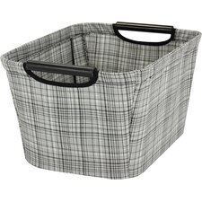 Tapered Storage Bin with Wood Handles