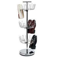 Storage and Organization 3 Tier Revolving Shoe Rack
