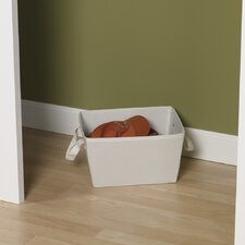 """Storage and Organization 7.5"""" Small Tapered Bin with Cloth Handles"""
