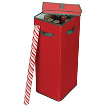 Wrapping Paper Holder in Red with Green Trim