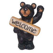 Solar Light Welcome Bear Sign