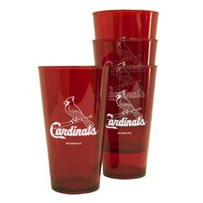MLB Plastic Pint Cup (4 Pack) - St. Louis Cardinals