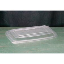 Plastic Microwave Safe Rectangular Container Lid in Clear