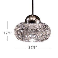 LED Crystal 1 Light Gem Pendant with LED303 Socket Sets