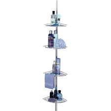 Pole Shower Caddy in Chrome