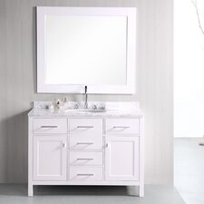 "London 48"" Single Bathroom Vanity Set with Mirror"