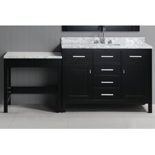 "London 78"" Single Bathroom Vanity Set with Mirror"