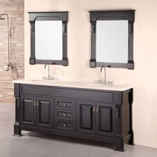 "Marcos 72"" Double Bathroom Vanity Set with Mirror"