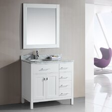 "London 36"" Single Bathroom Vanity Set with Mirror"