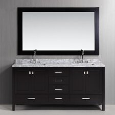 "London 72"" Double Bathroom Vanity Set with Mirror"