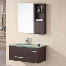 "Picks 35"" Single Christine Bathroom Vanity Set with Mirror"
