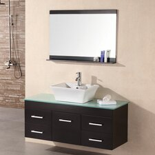 "Madrid 48"" Single Bathroom Vanity Set with Mirror"