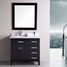 "London 36"" Single Modern Bathroom Vanity Set with Mirror"