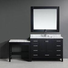 "London 78"" Single Bathroom Vanity Set with Mirror"
