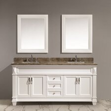 "Hudson 72"" Double Sink Vanity Set with Mirror"