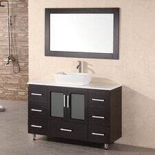 "Milan Stanton 48"" Single Modern Bathroom Vanity Set with Mirror"