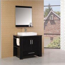 "Washington 36"" Single Bathroom Vanity Set with Mirror"
