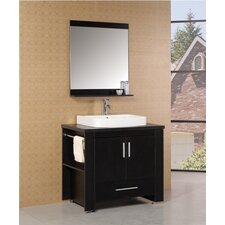 "Washington 36"" Single Modern Bathroom Vanity Set with Mirror"