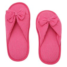 Dots Printed Cotton Women's Memory Foam Slipper