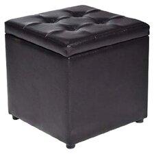 HomCom Upholstered Storage Cube Ottoman