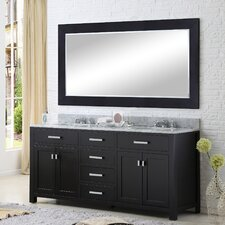 "Madison 72"" Double Bathroom Vanity Set with Large Mirror"