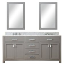 "Madison 72"" Double Sink Bathroom Vanity Set with Mirror"