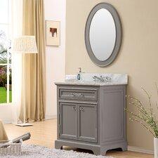 "Derby 30"" Single Sink Bathroom Vanity Set with Mirror"
