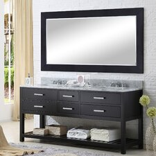 "Madalyn 72"" Double Bathroom Vanity Set with Mirror"
