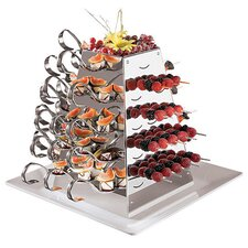 Stainless Steel Serving Pyramid Rotating Buffet
