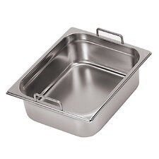 Hotel Pan with Fixed Handles - 1/6 in Silver