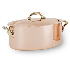Stainless Steel / Copper Oval Stew Pan