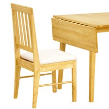 Swiss Solid Rubberwood Upholstered Dining Chair (Set of 2)