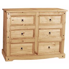 Corona Extra Wide 6 Drawer Chest