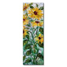 'Sunflowers' by Karen Tarlton Painting Print Plaque
