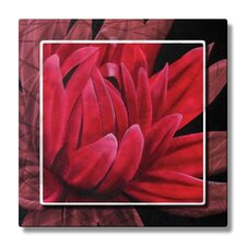 'Red Dahlia II' by Melissa Sherowski Graphic Art Plaque