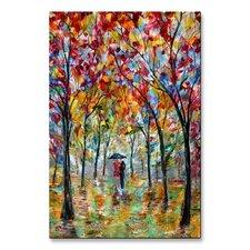 'Colorful Romance' by Karen Tarlton Painting Print Plaque