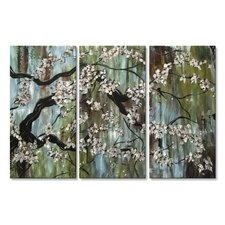 'Spring Renewal' by Stacy Hollinger 3 Piece Painting Print Plaque Set