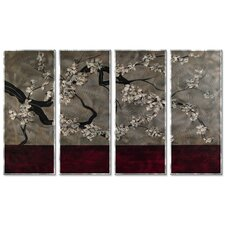'Calming Infusion' by Stacy Hollinger 4 Piece Painting Print Plaque Set